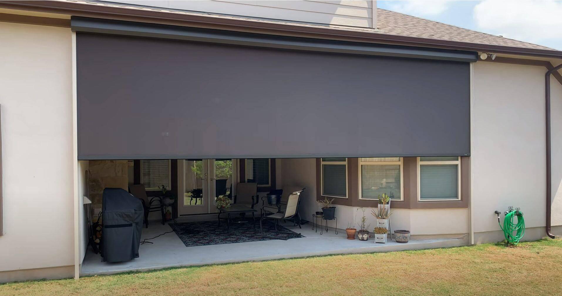 motorized solar screen