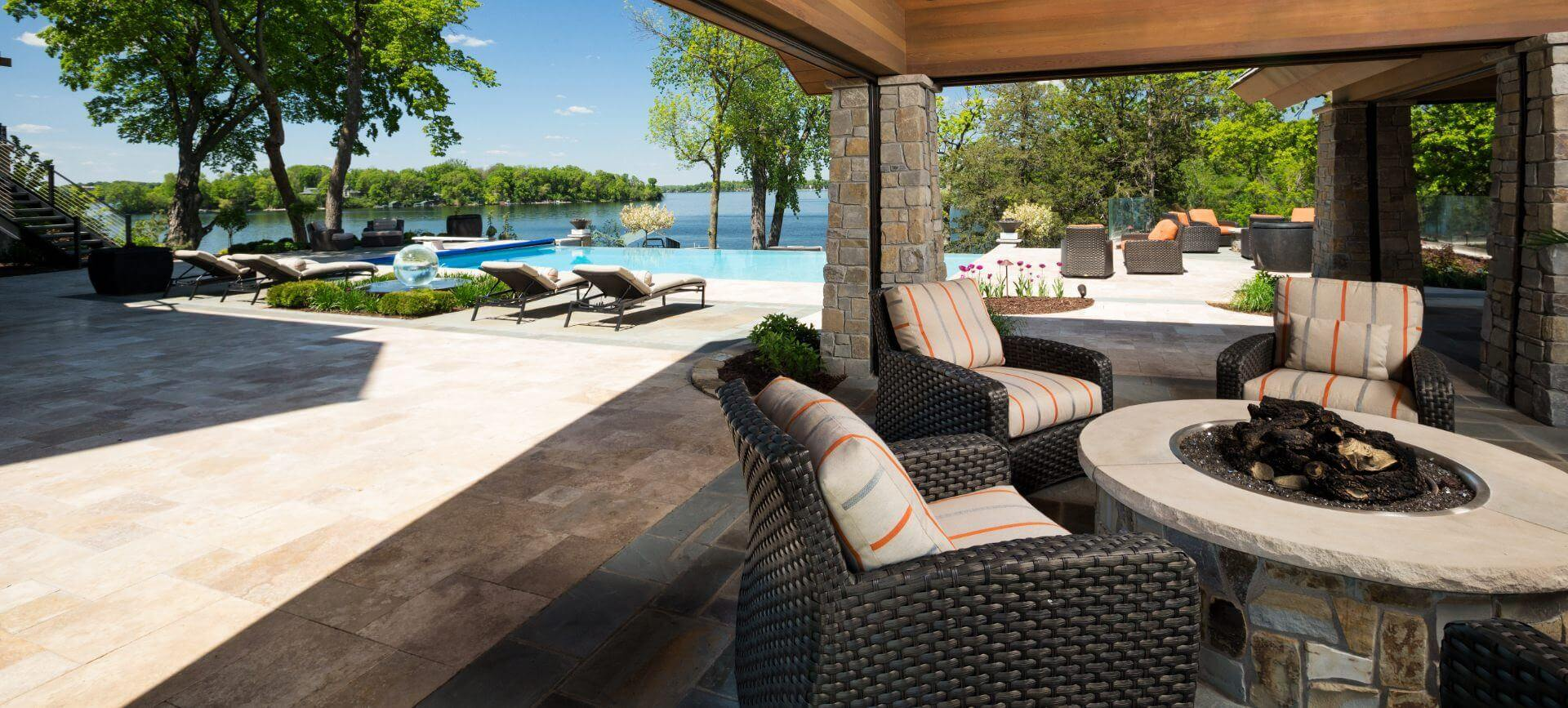 patio on firepit