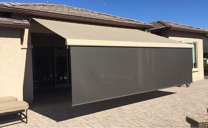 screen on awning