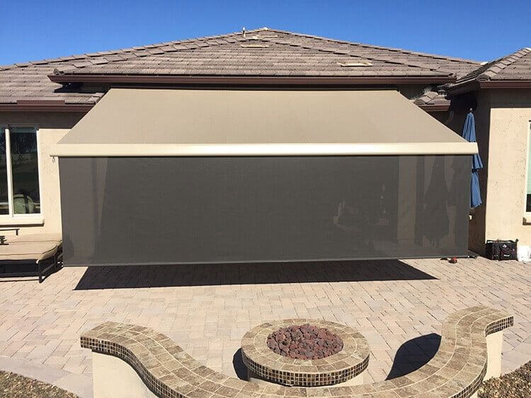 automatic retractable awning