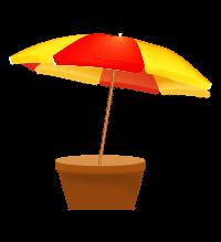 umbrella planter icon